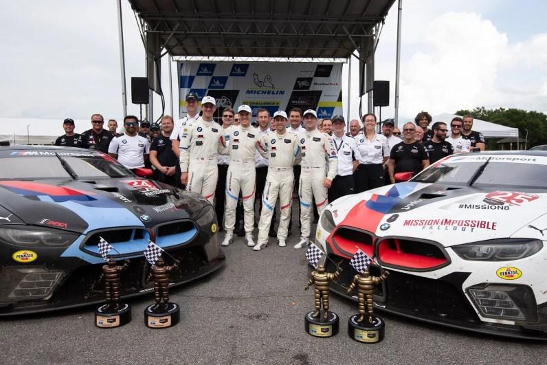 17.08.2018 to 19.08.2018, IMSA WeatherTech Sportscar Championship 2018, Michelin GT Challenge at VIR, Virginia International Raceway, Alton, VA (USA). Alexander Sims (GBR), Connor de Phillippi (USA), No 25, BMW Team RLL, BMW M8 GTE.