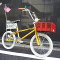 カリフォルニアンバイク,BMX,カスタム,カゴ,旗,アメリカ