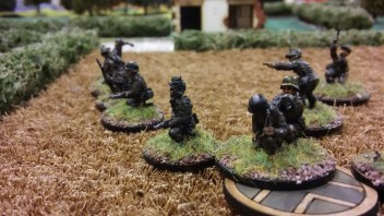 Germans girding their loins for the oncoming Tommies.