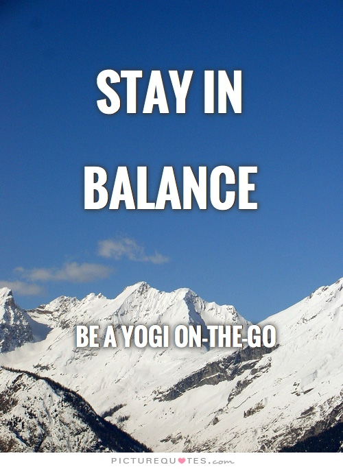 Stay In Balance