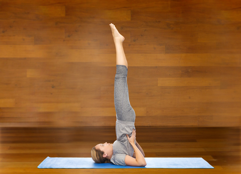 sequence from shoulder stand to fish pose in yoga  track yoga