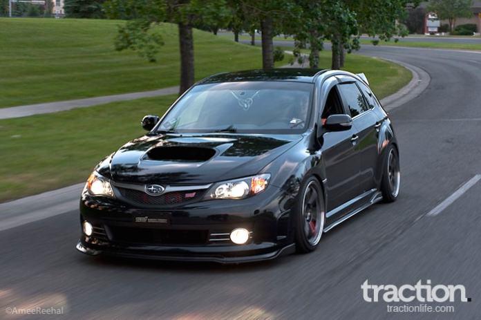 2008 Subaru STI Hatchback rolling shot