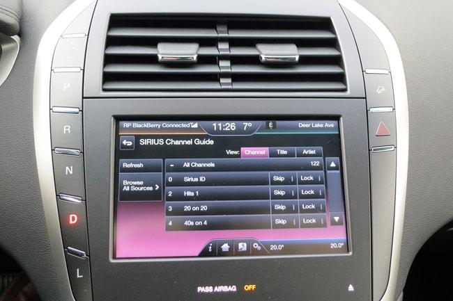 2014 Lincoln MKZ Hybrid screen