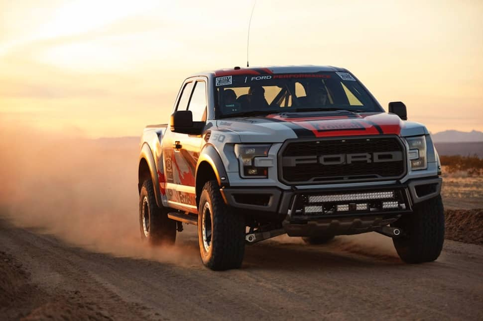 2017 ford raptor race truck desert