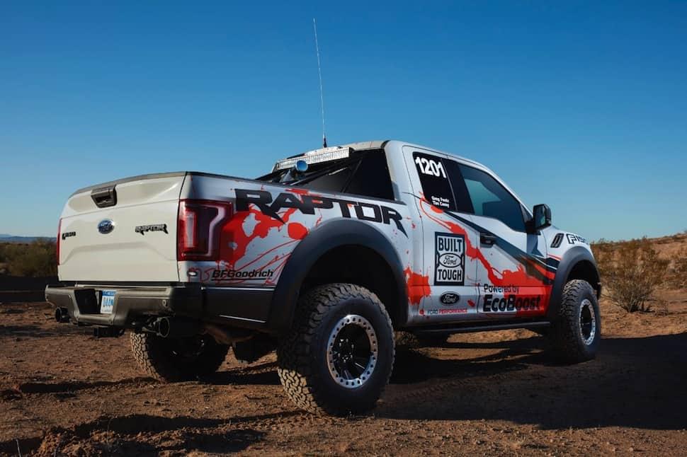 2017 ford raptor race truck rearview