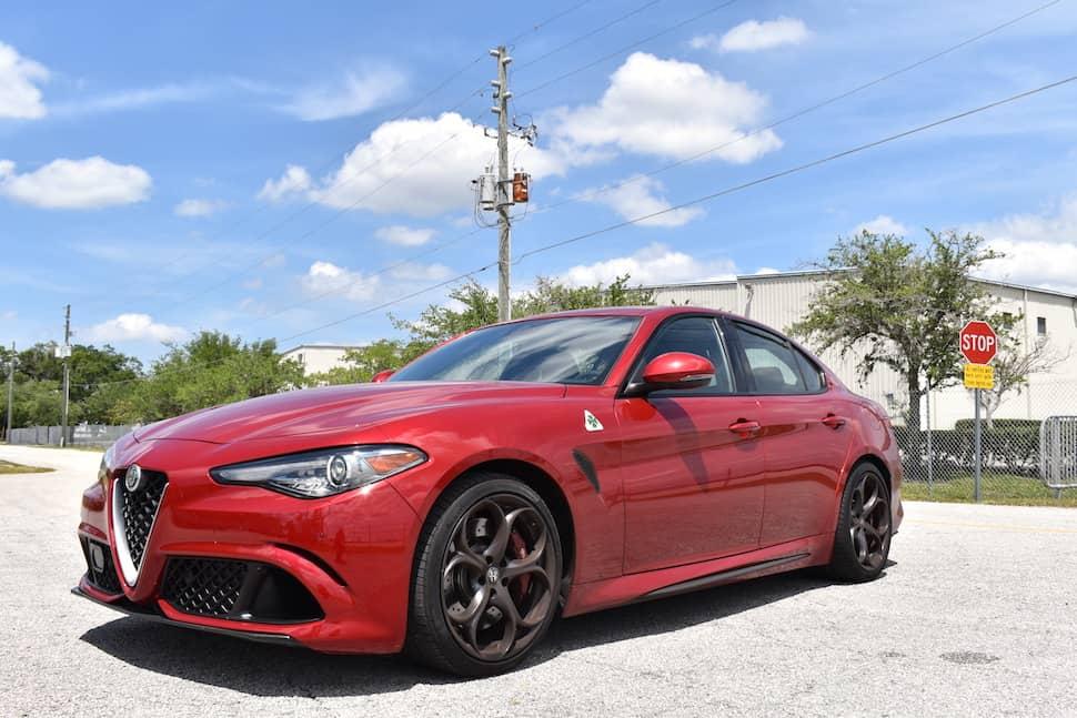 2017 Alfa Romeo Giulia Quadrifoglio review front profile