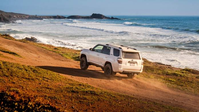 2017 toyota 4runner trd pro review rear driving