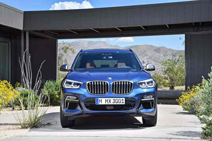 2018 BMW X3 head on