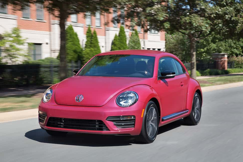 2017 VW Beetle Pink Edition Review front rolling