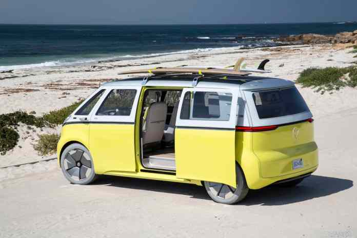 volkswagen I.D. BUZZ electric concept rear doors open