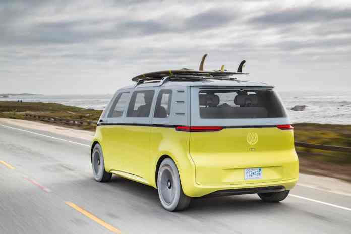 volkswagen I.D. BUZZ electric concept rear rolling