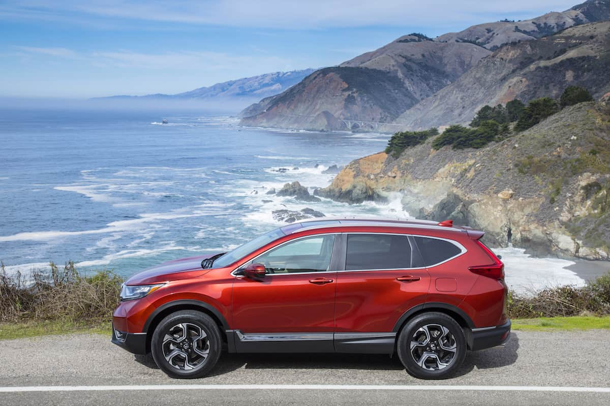 2017 Honda CR-V touring review sideview