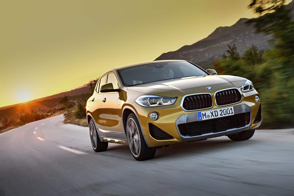 2018 bmw x2 crossover front rolling