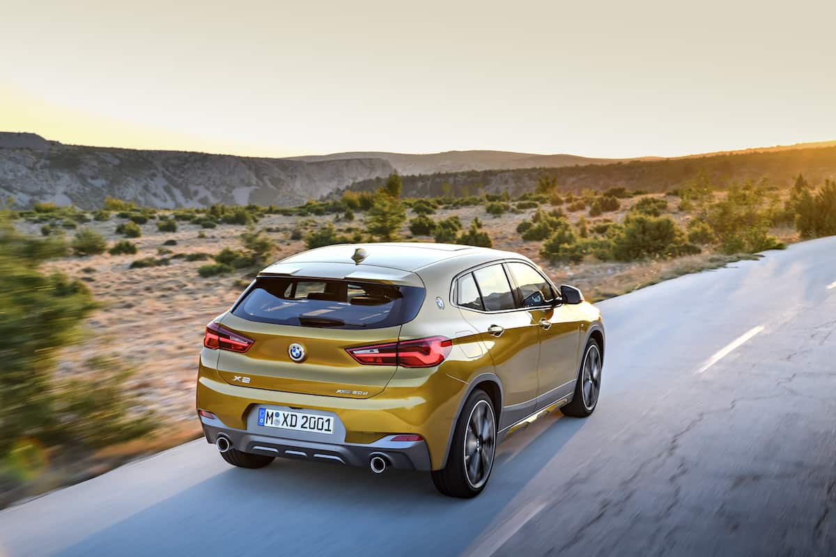 2018 bmw x2 crossover rear rolling