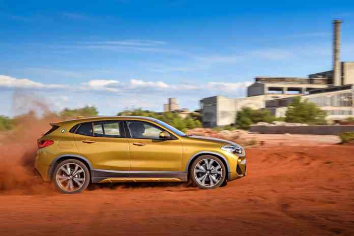 2018 bmw x2 crossover side rolling