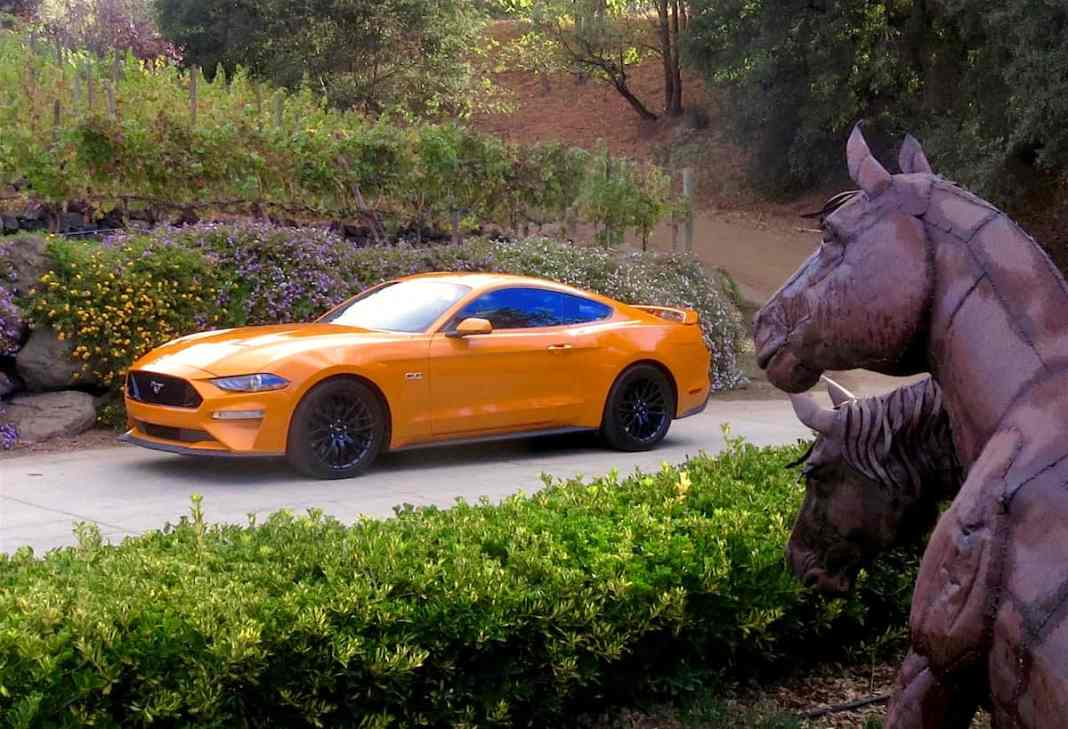 2018 Ford Mustang Review First Drive side view