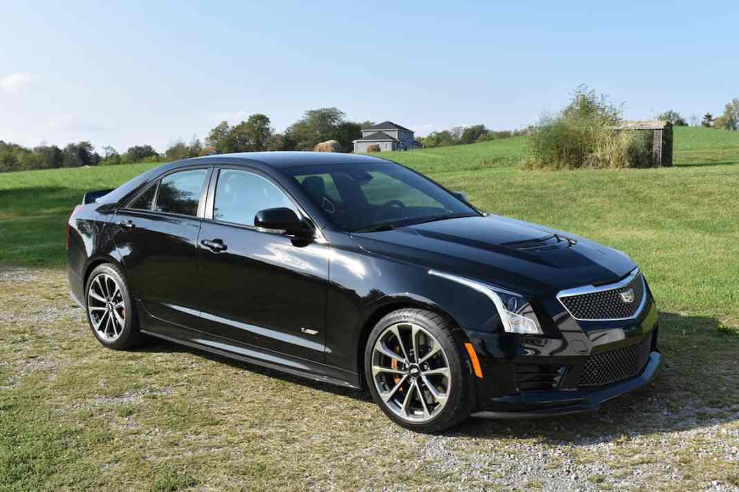 2017 Cadillac ATS-V black front profile