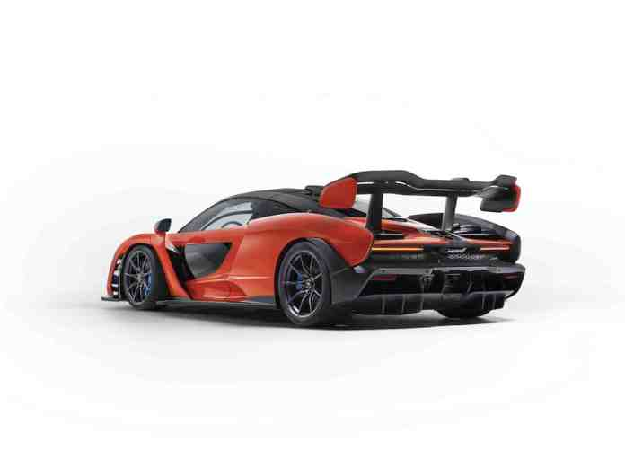 mclaren senna rear view