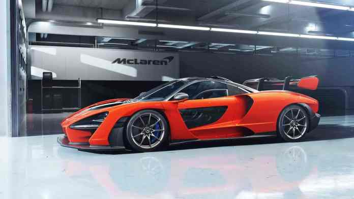 mclaren senna side profile
