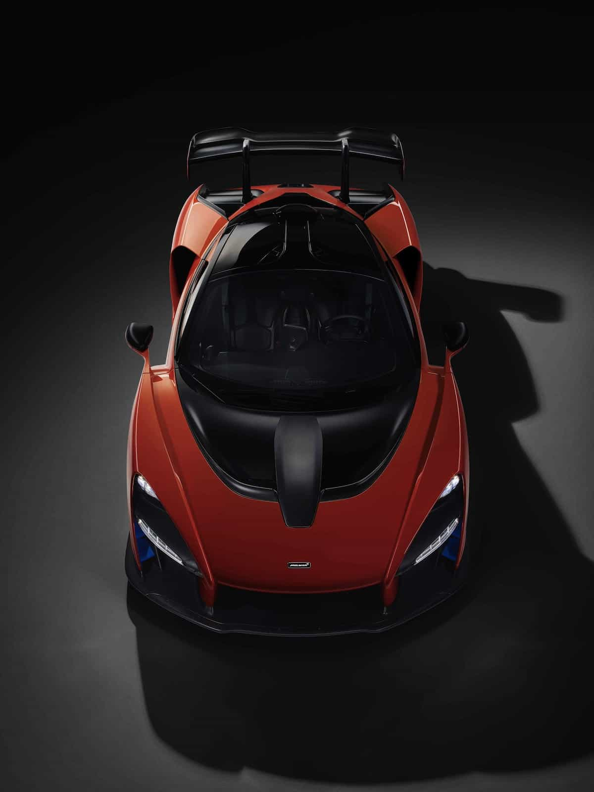 mclaren senna top view