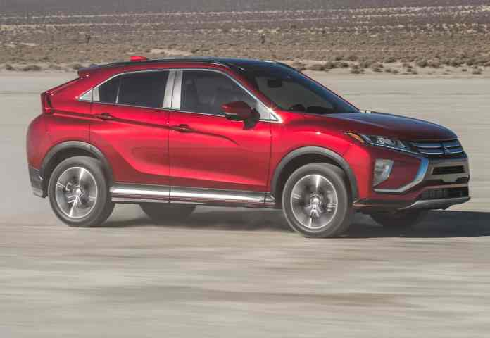 2018 mitsubishi eclipse cross front rolling red