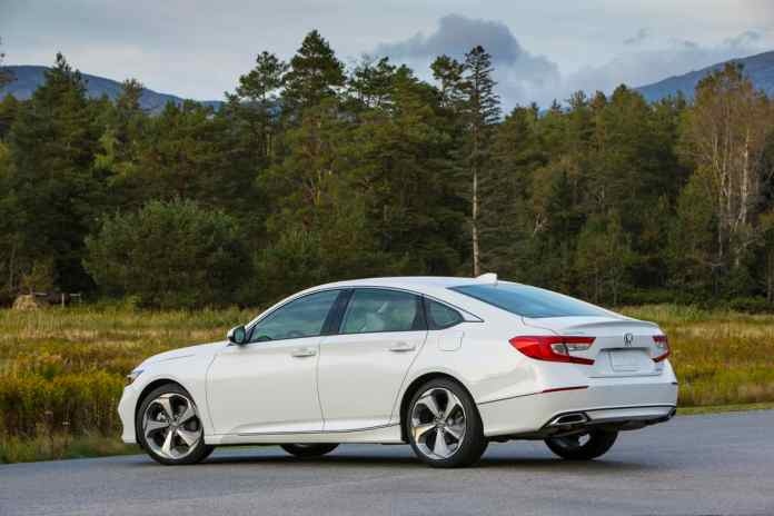 2018 Honda Accord Touring rear white