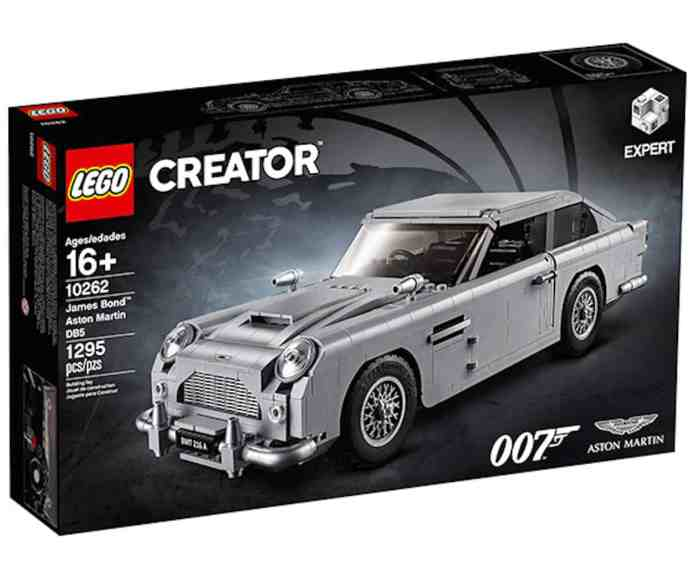 lego james bond aston martin db5 box