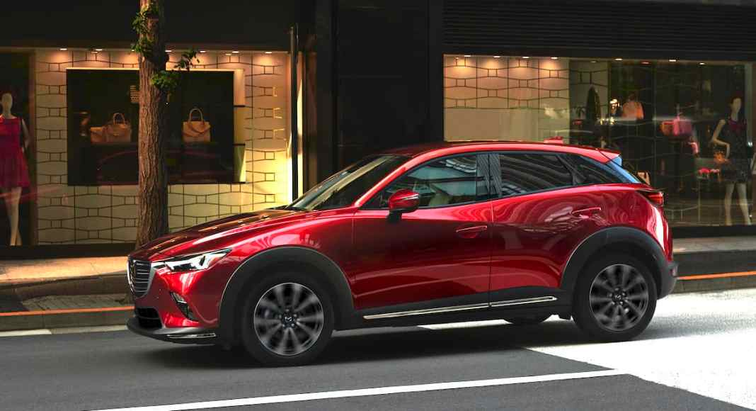 2019 Mazda CX-3 red sideview on street side