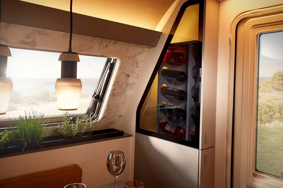 Bürstner Harmony 3 Concept Caravan wine cellar