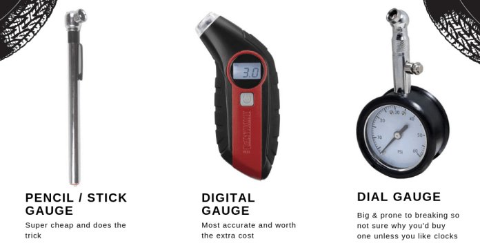 3 types of tire gauges tractionlife