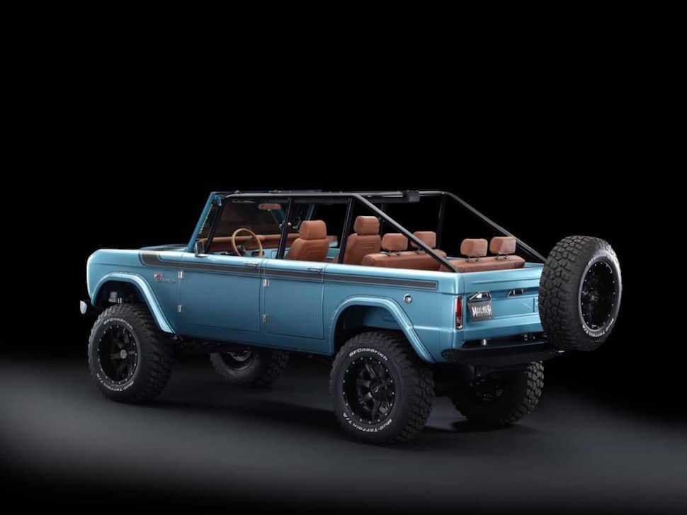 670-hp 4-Door Bronco Restored to Perfection rear
