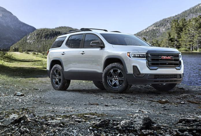 2020 GMC Acadia AT4 preview front view profile