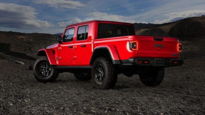 2020 Jeep Gladiator Launch Edition rear view