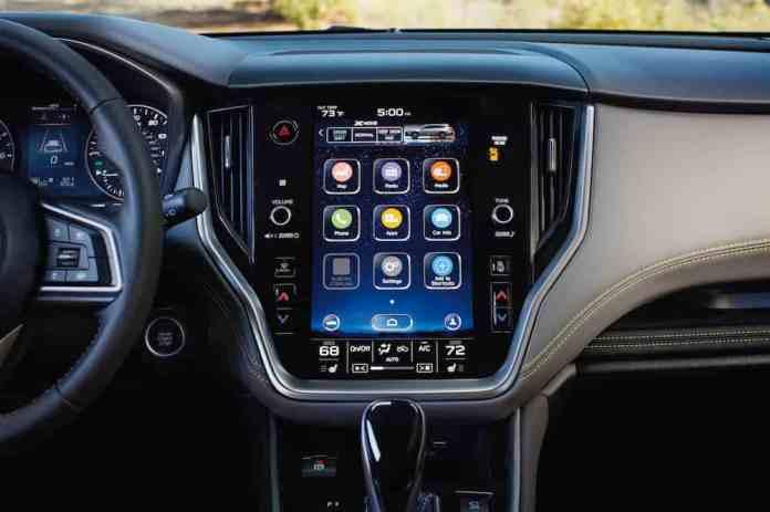 2020 subaru outback 11.6 inch touchscreen