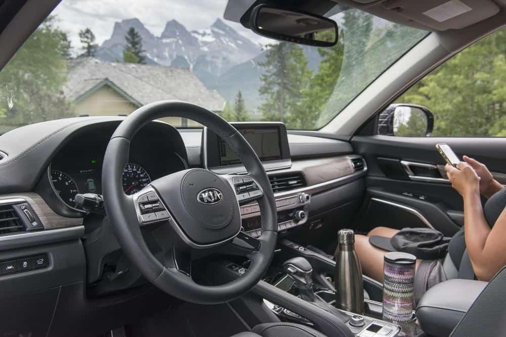 2020 Kia Telluride interior by amee reehal