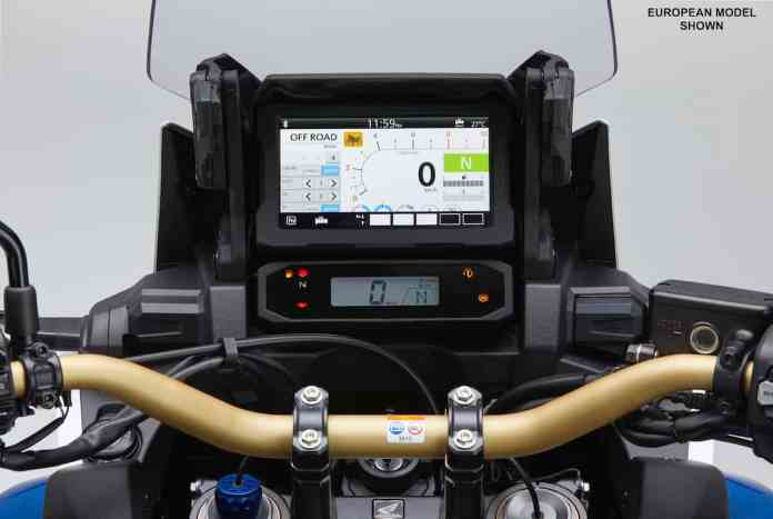 2020 Honda CRF1100L Africa Twin Adventure Sports SE touch screen display
