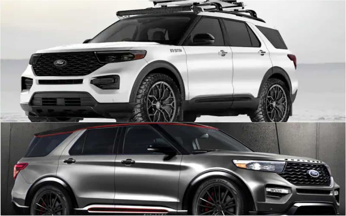 Pair of Badass 8 Ford Explorers with Aftermarket Parts Head to SEMA