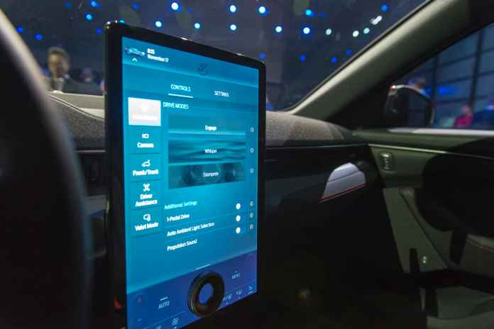 2020 Ford Mustang Mach-E interior touch screen