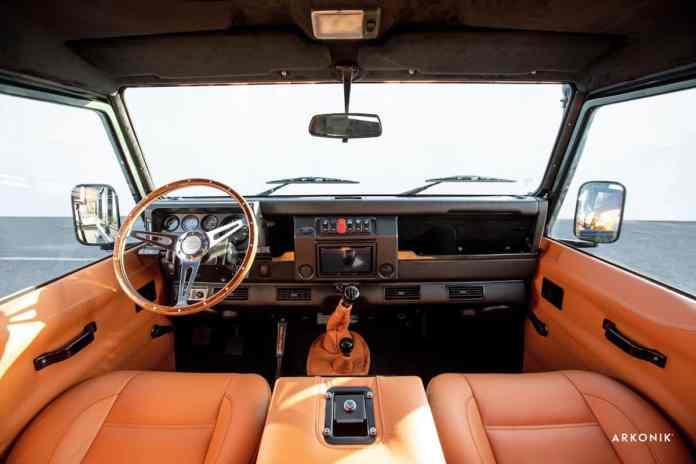 1995 land rover defender wader 110 arkonik front cabin