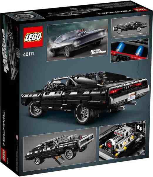 doms charge lego technic set box rear