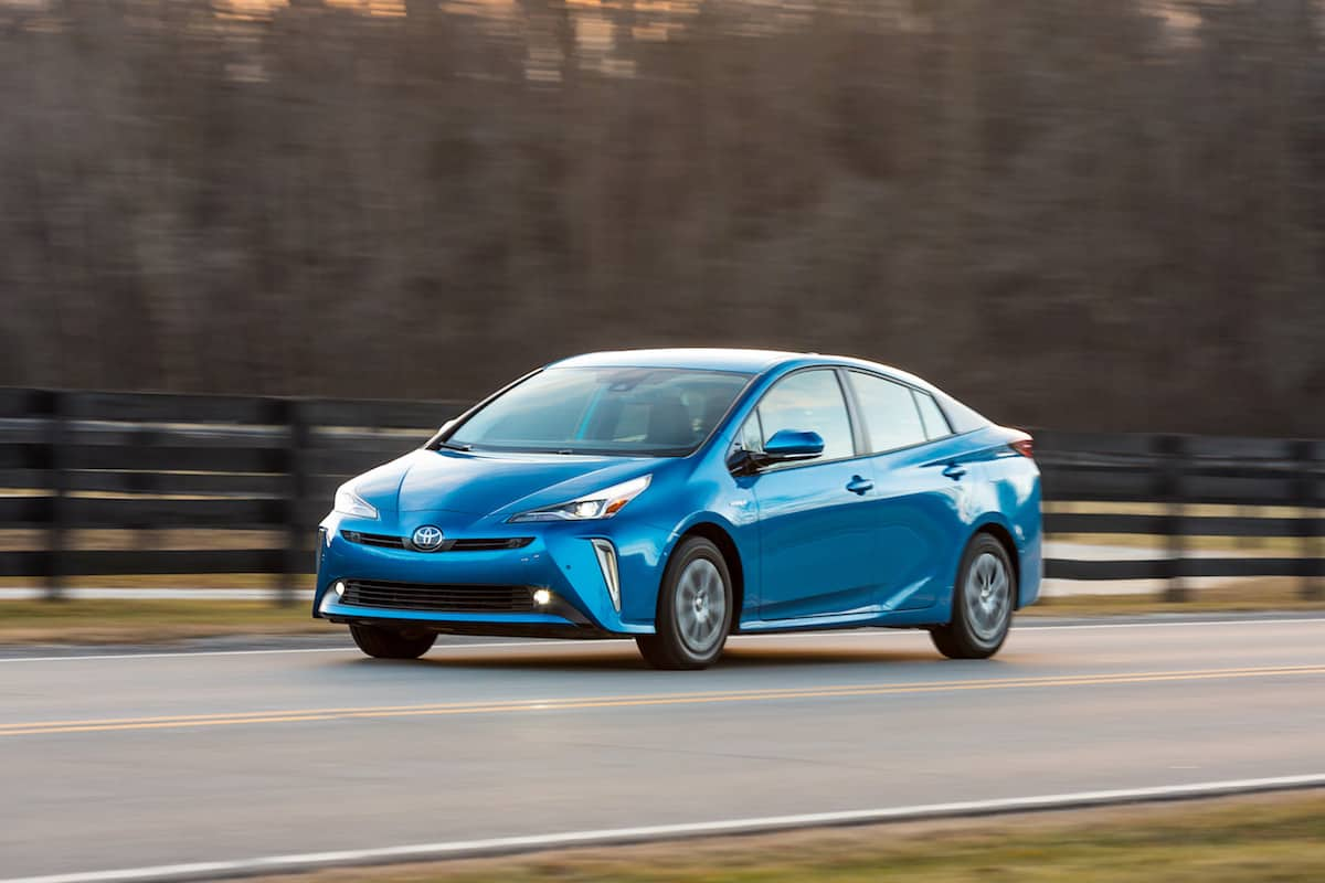 2020 Toyota Prius xle awd hatchback front driving