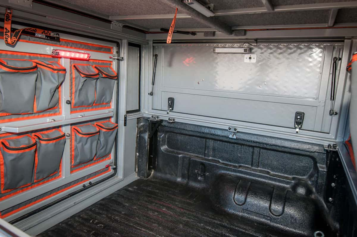 Alu-Cab Canopy Camper inside