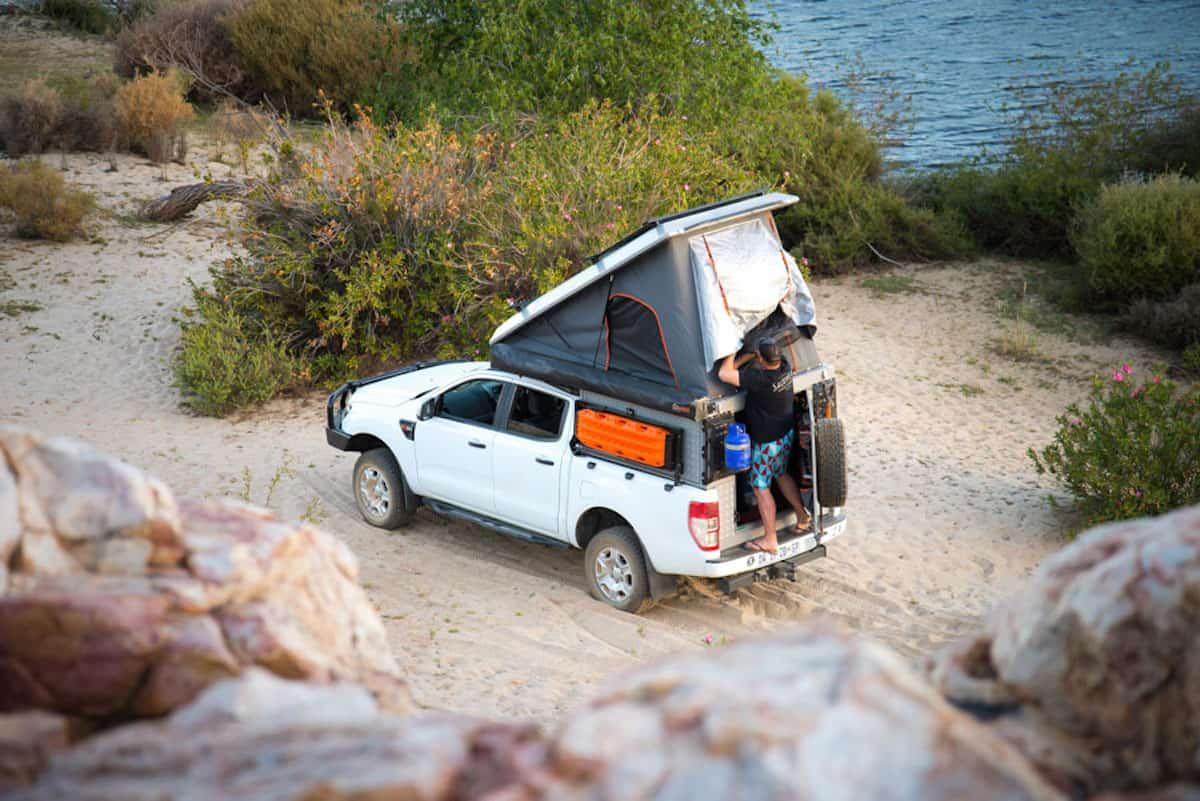 Alu-Cab Canopy Camper tent open