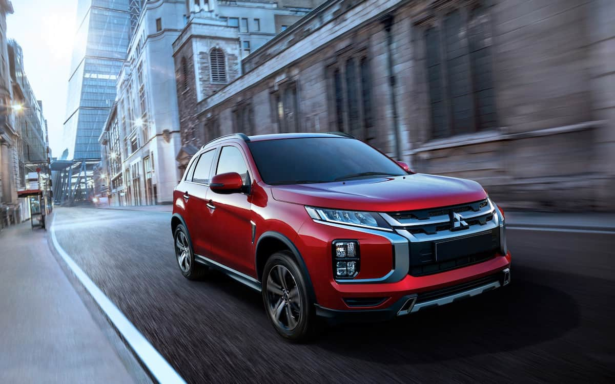 2020 Mitsubishi RVR red driving front