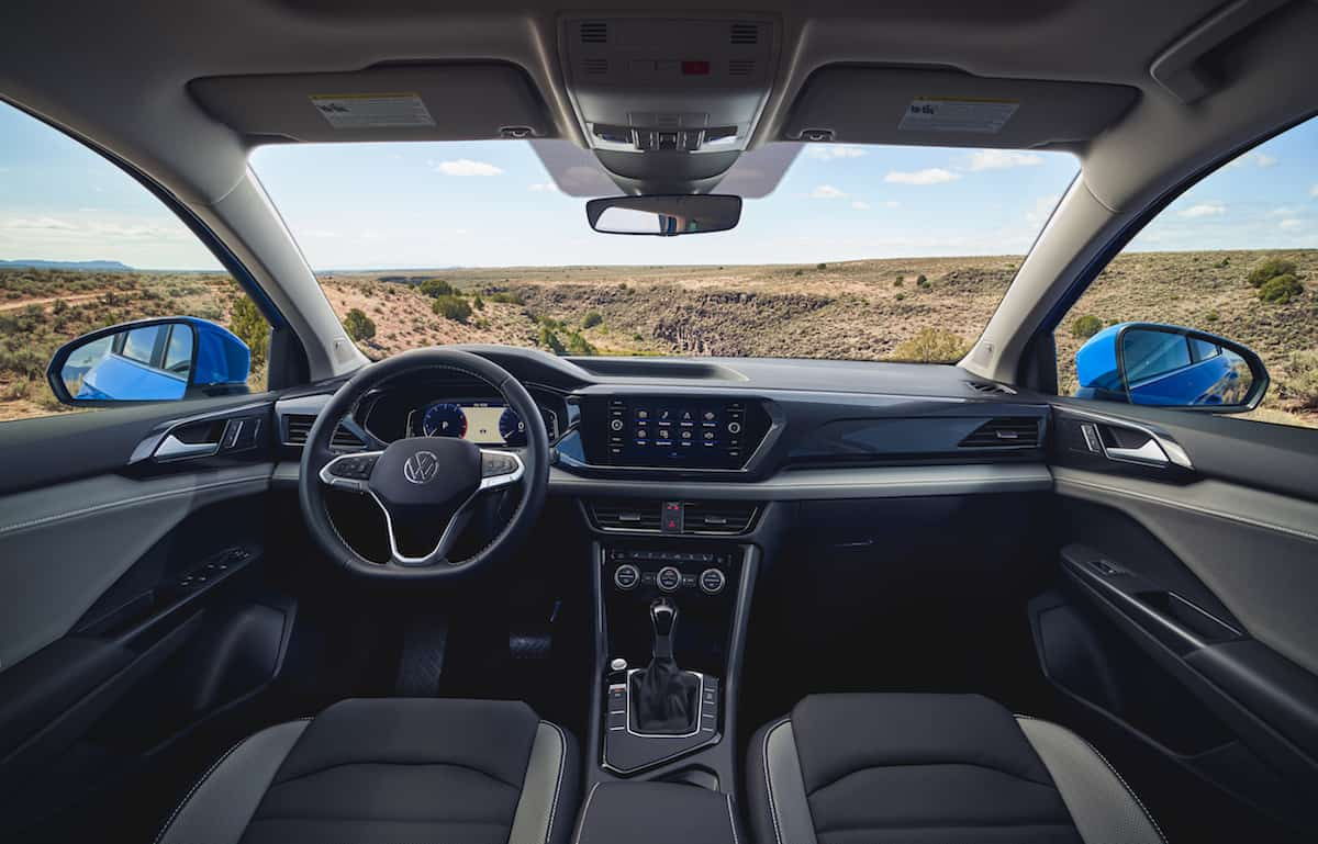 2022 VW Taos compact SUV interior