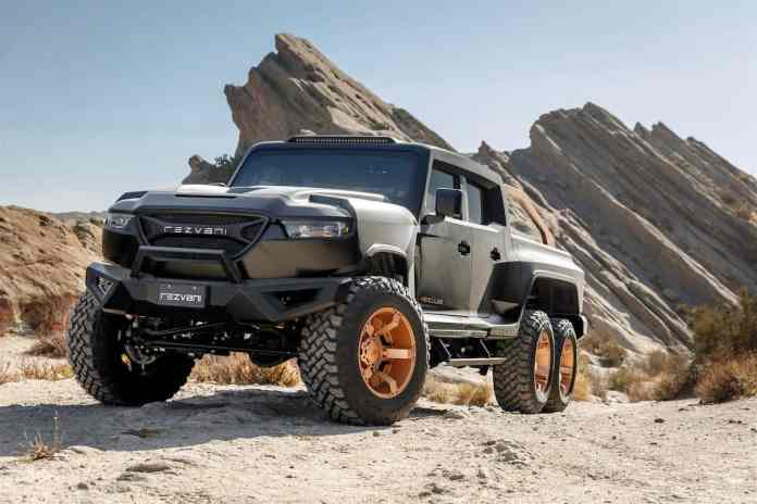 Rezvani Hercules 6x6 truck front
