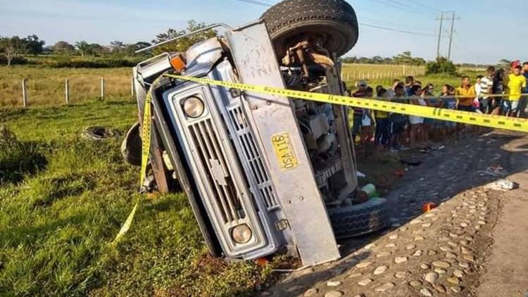 volqueta trágico accidente Cesar
