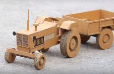 bricolage tracteur en carton