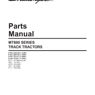cat challenger parts manual MT800-Series-Tractor