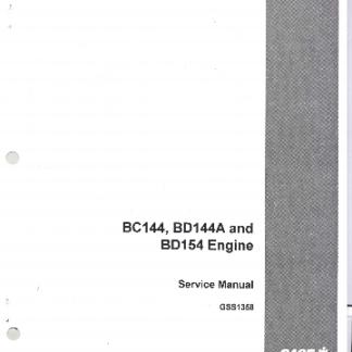 BC144-BD144A-BD154 Engine Service Manual Case